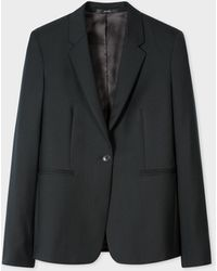 Paul Smith - A Suit To Travel In - Dark Green One-button Wool Blazer - Lyst