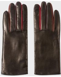 Paul Smith - Women's Black Leather Concertina Gloves - Lyst