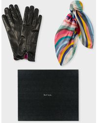 Paul Smith 'swirl' Gloves And Neckerchief Box Set - Multicolor