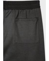 """Paul Smith Pantalon de Survêtement Gris Foncé """"Artist Stripe"""" en Laine"""