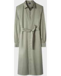 Paul Smith - Khaki Cotton Shirt Dress - Lyst