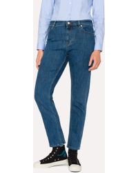 Paul Smith - Mid-Wash Girlfriend-Fit Jeans - Lyst