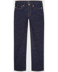 Paul Smith Slim-fit Indigo-rinse 'crosshatch Stretch' Jeans - Blue