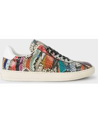 Paul Smith - 'Snake Swirl' Leather 'Levon' Trainers - Lyst
