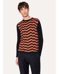 Paul Smith - Zig-Zag 'Bright Stripe' Wool And Silk-Blend Jumper - Lyst