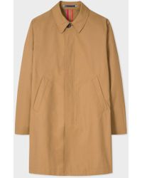 Paul Smith | Men's Camel Cotton-Blend Unlined Mac | Lyst