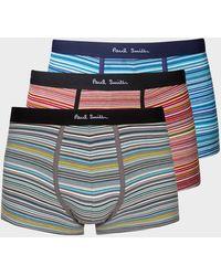 Paul Smith Multi 'signature Stripe' Low-rise Boxer Briefs Three Pack - Multicolour
