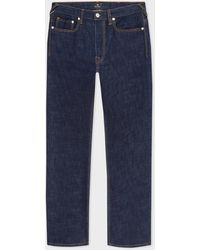 Paul Smith Standard-fit Indigo-rinse 'crosshatch Stretch' Jeans - Blue