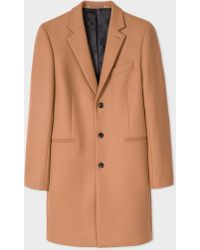 Paul Smith - Camel Wool-Cashmere Overcoat - Lyst