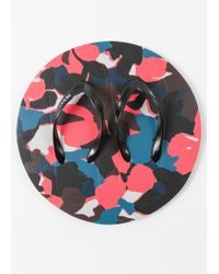 Paul Smith - Red Camouflage Flip Flops - Lyst
