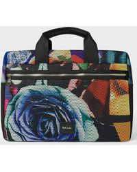 Paul Smith - 'Rose Collage' Print Mesh Weekend Bag - Lyst