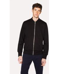 Paul Smith - Black Organic Loopback-Cotton Bomber Jacket - Lyst