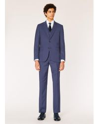 Paul Smith - The Soho - Tailored-fit Navy Three-piece Puppytooth Wool Suit - Lyst