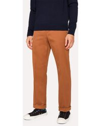 Paul Smith - Standard-Fit Burnt Orange Cotton-Twill Stretch Chinos - Lyst