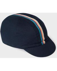 Paul Smith Casquette de velo bleu marine Artist Stripe