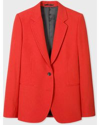 Paul Smith - Orange Two-button Wool-blend Twill Blazer - Lyst