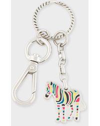 Paul Smith Multi-coloured 'zebra' Keyring - Multicolour