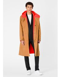 Paul Smith Tan Double Face Reversible Parka - Multicolor