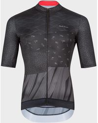 Paul Smith Black Race Fit Cycling Jersey With 'artist Stripe' Trims