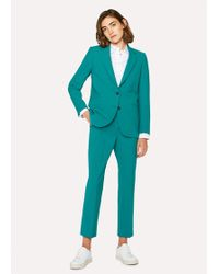 Paul Smith - Turquoise Two-Button Wool-Blend Suit - Lyst