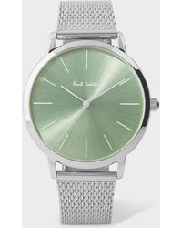 Paul Smith - Unisex Light Green And Stainless Steel 'Ma' Watch - Lyst
