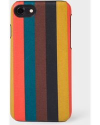 Paul Smith - 'Bright Stripe' Leather iPhone 7 Case - Lyst