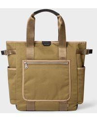 Paul Smith Khaki Canvas Tote Bag - Natural