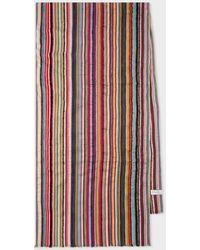 Paul Smith Écharpe À Rayures Texturées Multicolores