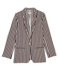 Hartford Ventila Striped Jacket - Blue