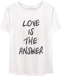 South Parade Love Is The Answer Tee - White