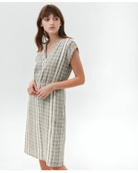 Hartford Rusa Striped Dress - White