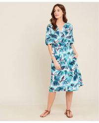 Hartford Reva Bird Wrap Dress - Blue