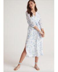 Bella Dahl Cross Front Belted Maxi Dress - Blue