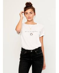 South Parade Lola Cup Of Tea Tee - White
