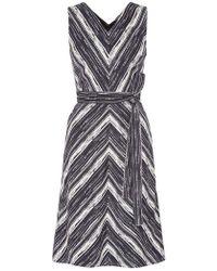 Goat Demetrius Stripe Print Sleeveless Dress - Black