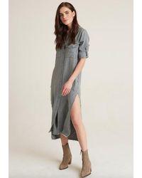 Bella Dahl Maxi Grey Shirt Dress