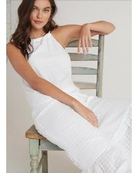Bella Dahl Ruffle Hem Halter Maxi Dress - White