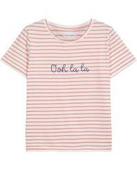 Chinti & Parker Ooh La La Rose Breton T-shirt - Pink