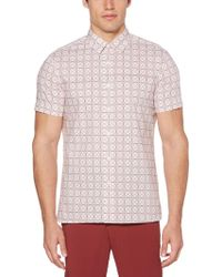 Perry Ellis - The Total Stretch Geo Print Shirt - Lyst