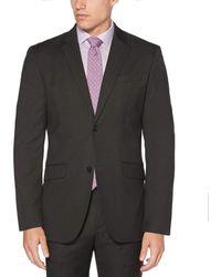 Perry Ellis Heathered Stripe Suit Jacket - Gray