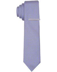Perry Ellis Slim Aswill Mini Print Tie - Purple