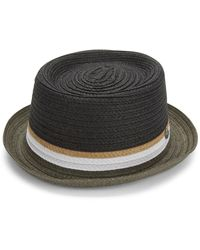 8fc9f1b3b Multi-color Braided Straw Fedora - Black