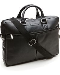 Perry Ellis - Top Zip Briefcase - Lyst