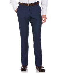 Perry Ellis Very Slim Fit Pindot Dobby Suit Pant - Blue