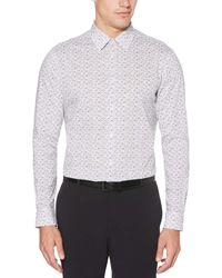 Perry Ellis Regular-fit Animal-print Shirt - White
