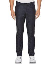 Perry Ellis Slim Fit Crossover Needle Denim Jeans - Blue