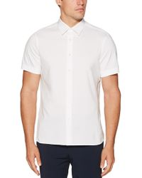 Perry Ellis - Big & Tall Short Sleeve Solid Shirt - Lyst