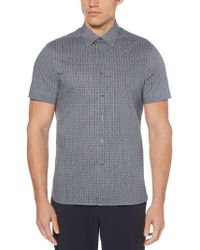 Perry Ellis - The Total Stretch Box Weave Print Shirt - Lyst