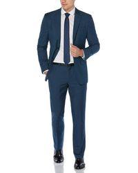 Perry Ellis Slim Fit Two Toned Suit - Blue