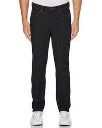 Perry Ellis Slim Fit Dark Indigo Denim Jeans - Blue